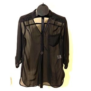 Truth Sheer Blouse With Sequins